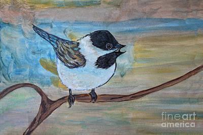 Painting - Tiny Treasures - Bird Art by Ella Kaye Dickey