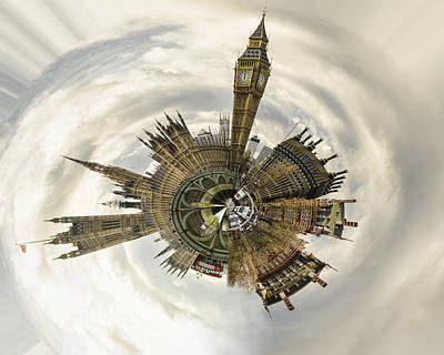House Of Commons Photograph - Tiny World - Westminster by Heather Applegate