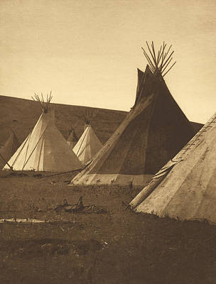 Tipis, Atsina Camp, Montana, 1908 Art Print by Getty Research Institute