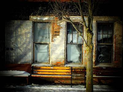Window Bench Photograph - Tipp City Windows by Michael L Kimble