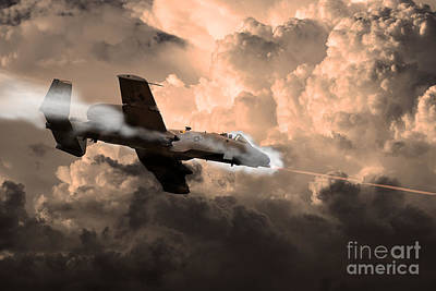 A-10 Digital Art - Tipping In by J Biggadike