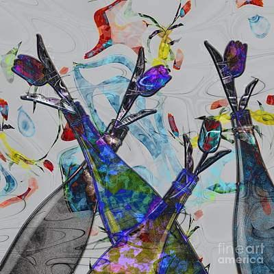Tippy Tulips Print by Liane Wright