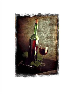 Tipsy Bottle Art Print by Roger Winkler