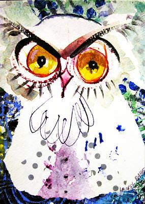 Tipsy Owl Art Print