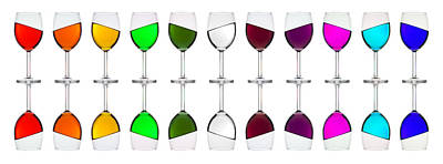 Photograph - Tipsy Rainbow In Glasses by Andrew Munro