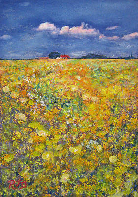 Painting - tiptoe Through Summer Meadow by Richard James Digance