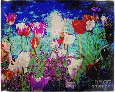 Photograph - Tiptoe Through The Tulips 02 by Edmund Nagele