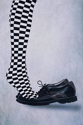 Checkered Black-and-white Photograph - Tiptoes by Joana Kruse