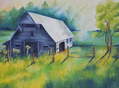 Tipton Barn Cades Cove Tn Art Print by Golanv  Waya