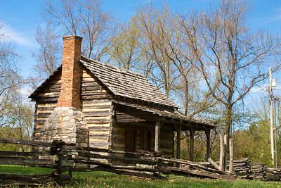 Cabin Corner Photograph - Tipton Hayes Cabin 17 by Douglas Barnett