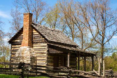 Cabin Corner Photograph - Tipton Hayes Cabin 2 by Douglas Barnett