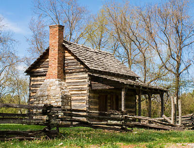 Cabin Corner Photograph - Tipton Hayes Log Cabin 10 by Douglas Barnett