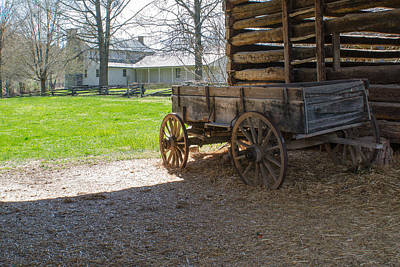 Cabin Corner Photograph - Tipton Hayes Wagon 1 by Douglas Barnett