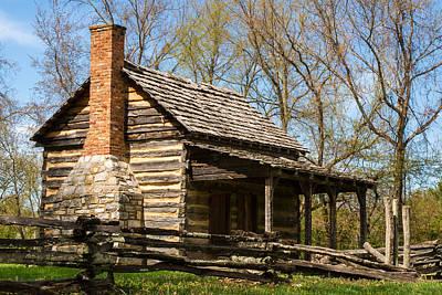 Cabin Corner Photograph - Tipton Hays Log Cabin 10 by Douglas Barnett