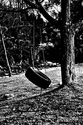 Photograph - Tire Swing by Al Bourassa