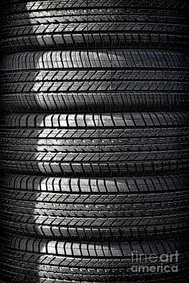 Photograph - Tire Tower by Olivier Le Queinec