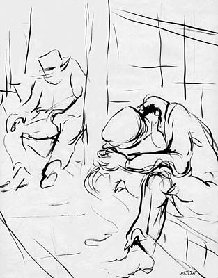 Simplicity Drawing - Tired And Old by Mary Armstrong