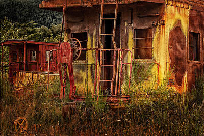 Old Caboose Photograph - Tired Caboose by Mary Jo Allen