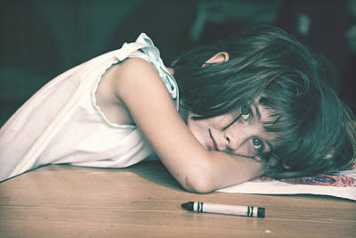 Tired Girl By Jan Marvin Art Print
