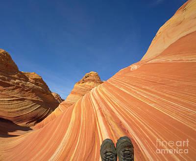 Tired Hiker Paria Wilderness Arizona Art Print by Yva Momatiuk John Eastcott