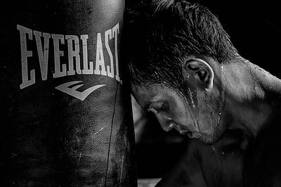 Boxing Photograph - ...tired... by Rudolf Wungkana
