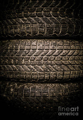 Photograph - Tires by Edward Fielding