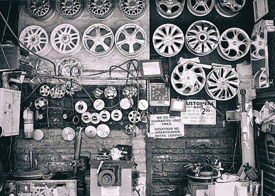 Photograph - Tires Fixed Bronx Ny by Dave Beckerman