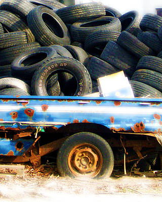 Photograph - Tires by Tom Romeo