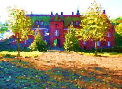 Digital Art - Tirsbaek Palace Seen From The Courtyard_painting by Asbjorn Lonvig