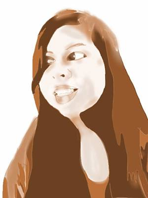 Sepia Ink Digital Art - Tish by Helen Bowman