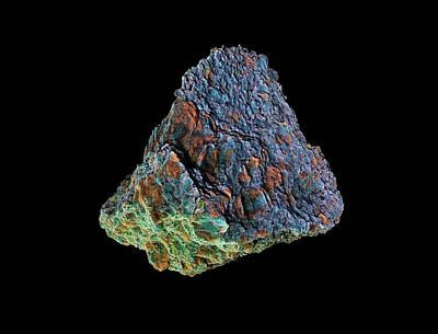Tissint Martian Meteorite Art Print by Dan Sykes/natural History Museum, London
