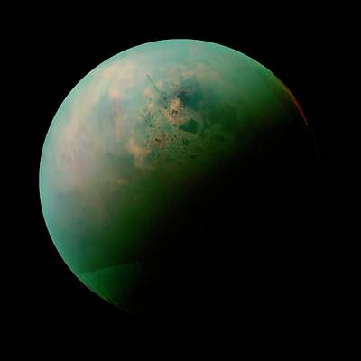 No. 12 Photograph - Titan From Space by Nasa