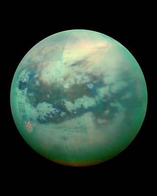 14 Photograph - Titan From Space by Nasa/jpl/university Of Arizona/university Of Idaho