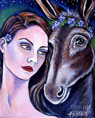 Painting - Shakespeare's Titania And Bottom by Patience A
