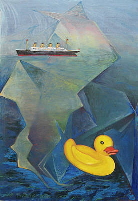 Painting - Titanic And The Ducky by Jeff Seaberg