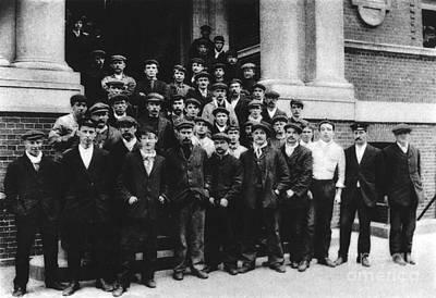 Rms Titanic Photograph - Titanic Crew Survivors by Spl
