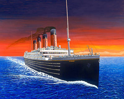 Titanic Art Print by David Linton