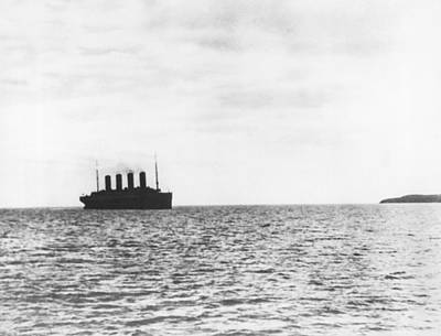 Titanic Departing Europe Print by Underwood Archives
