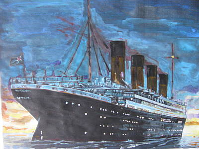 Titanic Into The Sunset Art Print