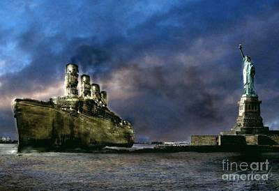 Ghost Digital Art - Titanic Late Arrival by Tom Straub