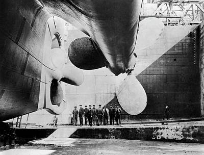 Titanic Ready For Launch Art Print by Library Of Congress