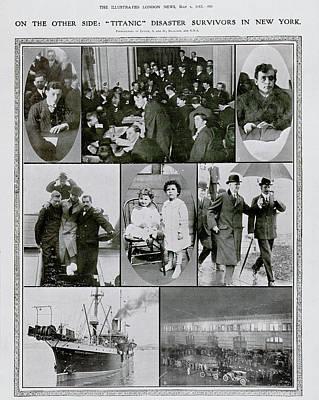 Rms Titanic Photograph - Titanic Survivors by British Library