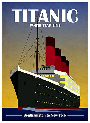 Liquor Mixed Media - Titanic White Star Line Poster by Gary Perron