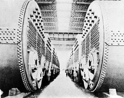 Rms Titanic Photograph - Titanic's Boilers by Science Photo Library