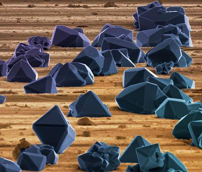 Titanium Photograph - Titanium Microcrystals by Science Photo Library
