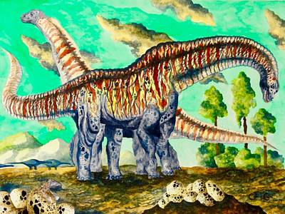 Painting - Titanosaurus  by Gabriel Cajina