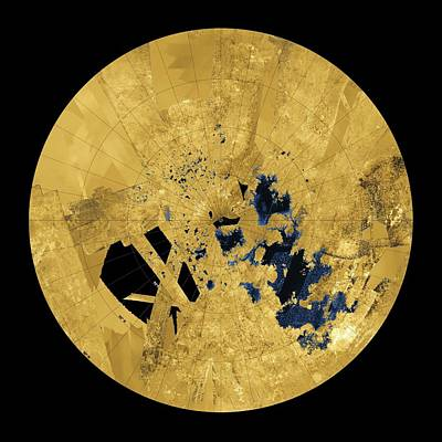 Titan's Lakes Art Print
