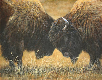Painting - Titans Of The Plains by Kim Lockman