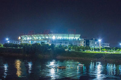 Photograph - Titans Stadium In Blue by Robert Hebert
