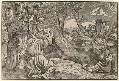 Titian German, Active C. 1530-1550, Saint Francis Receiving Art Print
